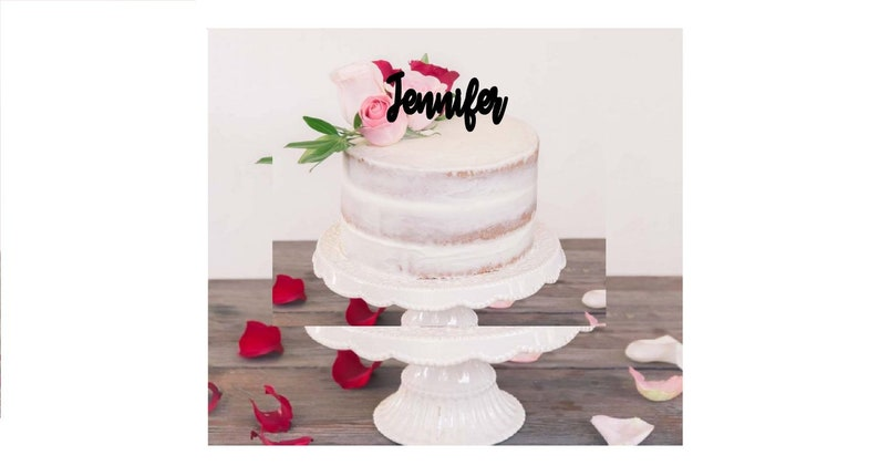 Personalized Name Birthday Cake Topper Happy
