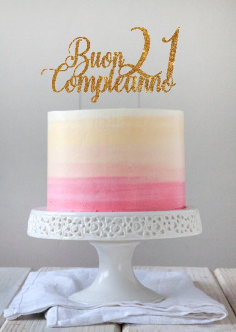 Happy Birthday Cake Topper Buon Compleanno