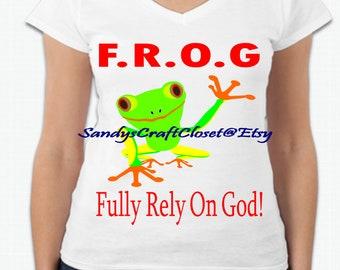 FROG Fully Rely On God  Svg / Png / Pdf / Jpeg /Eps / Dxf