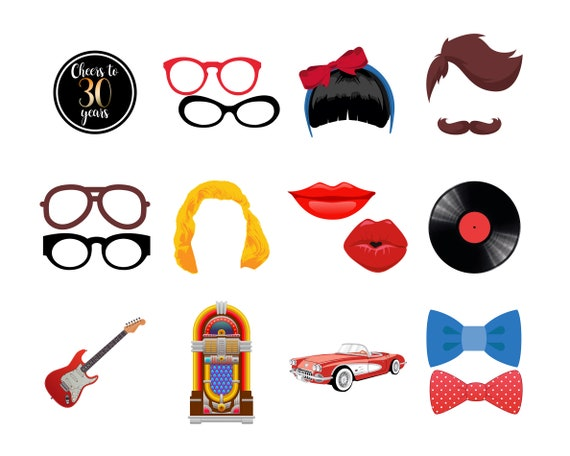 Instant Download 50s Party Props I Love The 50s Props 50s Etsy
