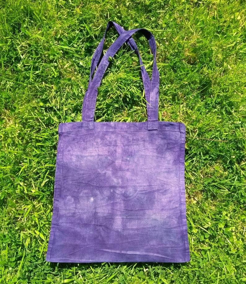 Naturally Dyed Cotton Tote Bag Eco Friendly Bag Reusable Shopping Bag Beach Bag