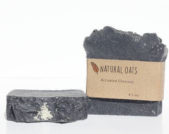 Activated Charcoal Handmade Natural Organic Soap Essential Oil Beauty Bath Bar