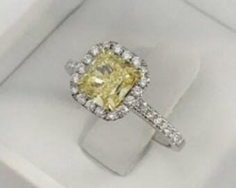 368374f31e75e Fancy yellow diamond ring | Etsy
