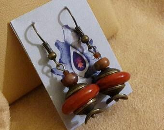 """Earrings with carnelian and Jasper """"JoyaDreams"""""""