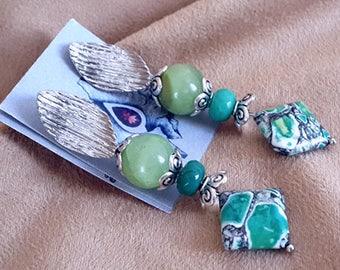 "Earrings with jade, Variscit and Participantses ""JoyaDreams"""
