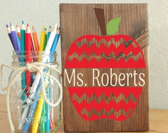 Wood Sign, Teacher Name Sign, Teacher Appreciation Gift, Teacher Gifts, Teacher Signs, Classroom Signs, Wood Signs, Personalized Sign