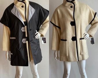 Vintage 1980's Deadstock   size medium   Hudson's Bay ivory wool coat