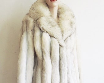 492dbafaba6 Vintage Arctic fox and leather fur and leather coat