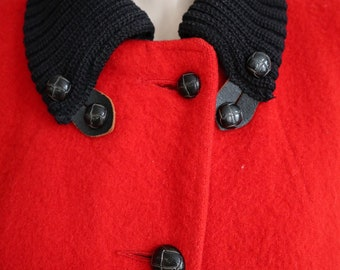 Vintage 1960's | size large | Hudson's Bay Company wool jacket with knit collar and sherpa lining