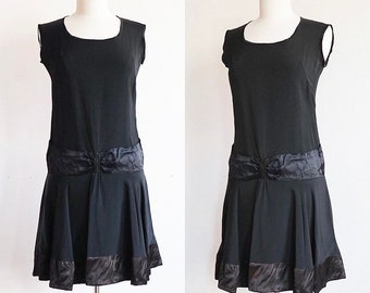 Authentic antique Vintage M 1920's | silk and rayon flapper dress | 20's