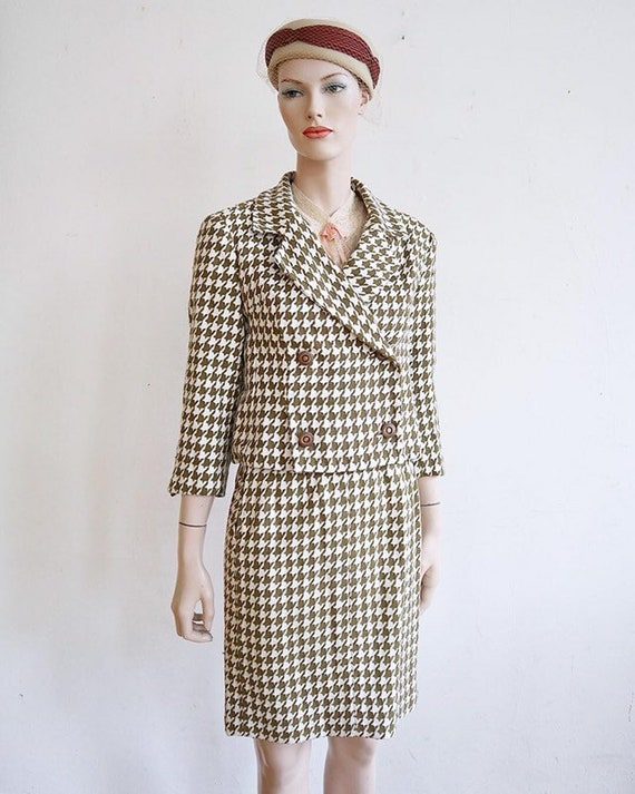 Mint condition 1940's/1950's knit cotton houndstoo