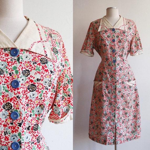 Vintage Volup 1930s | Large - Extra Large | floral