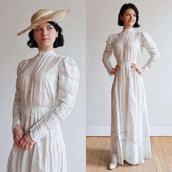 Antique Edwardian | size xxs | 1900's Cotton calic