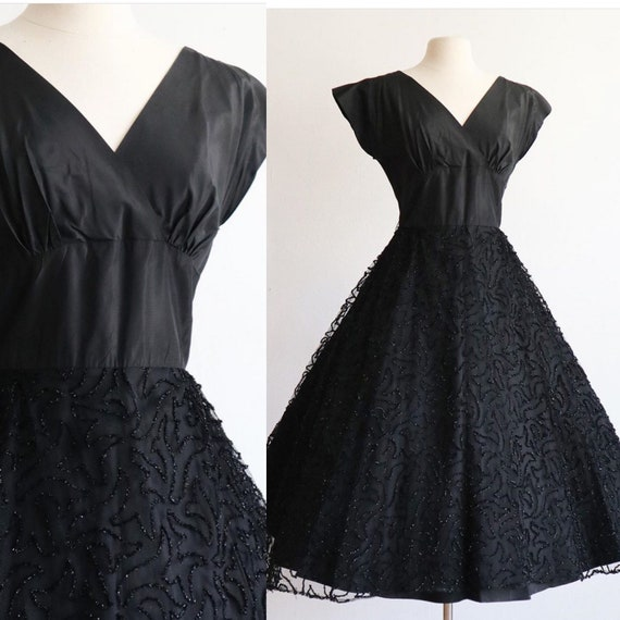 Vintage | S | 1940's New look cocktail dress | che