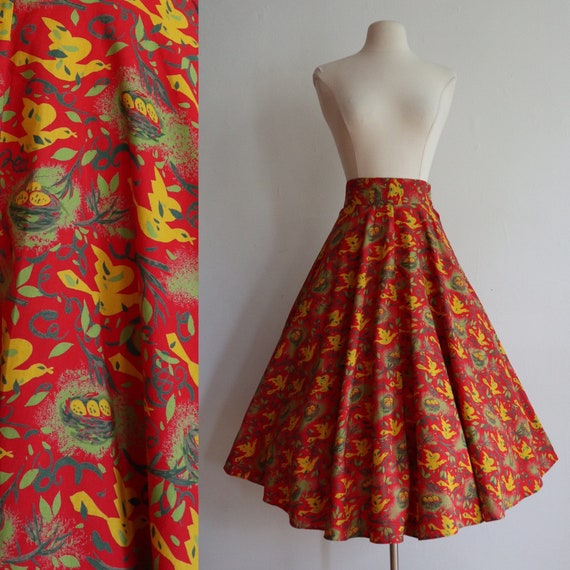 Vintage |XXS | 1940's cotton novelty print full sw