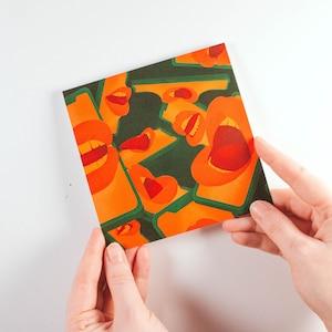 Square 12.1 x 12.1 cm Art Print Postcard Silence Greeting Card