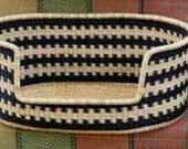 Comfortable Dog Basket Bed woven basket for pet pet baskets ghana bolga pet basket