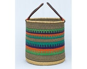 African traditional woven laundry Basket