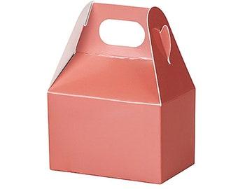 "Metallic Rose Gold 6-Pk Mini Gable Boxes 4x2-1/2x2-1/2""  Farmhouse Wedding, gift wrap, packaging Gold  Decorating"