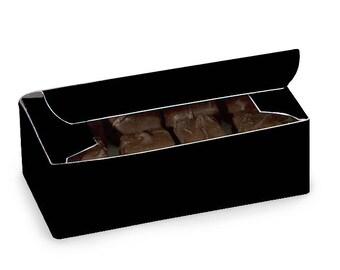 Black   Candy Box, New Black . 1/2 lb candy box, wedding, gift wrap, packaging Black  Decorating