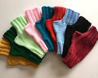 Women's Hand knitted fingerless gloves ideal for dog walking