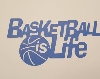 10 Basketball Scrapbooking cut outs.