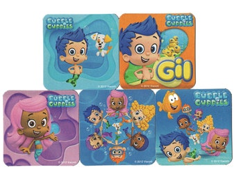 Oona Bubble Guppies Centerpiece Picks Nonny Deema Grouper Molly Personalized SignSet of 8CenterpiecesBirthdayBaby Mr Gil Goby