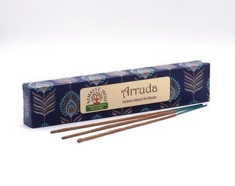 Incense Sticks Namaste India Arruda Agarbatti Indian Aromawerk, hand-rolled from natural resins, spices and aromas