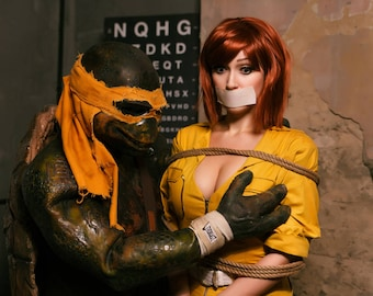Signed Cosplay Print April Oneil And Mikey 20x30cm