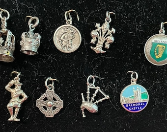United Kingdom Travel Charms in Sterling 1950s to 1970s Vintage each Sold Separately @ 15 dollars each NEW Charms July 21