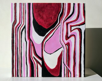 Abstract Acrylic Painting on Square Canvas