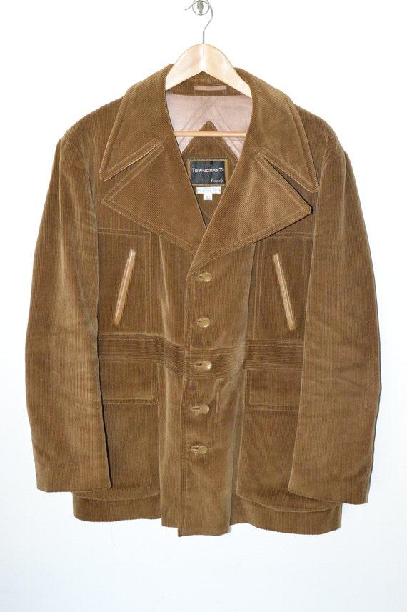 Vintage Towncraft Corduroy Men's Jacket With Faux