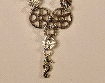 Mechanical Seahorse Necklace.