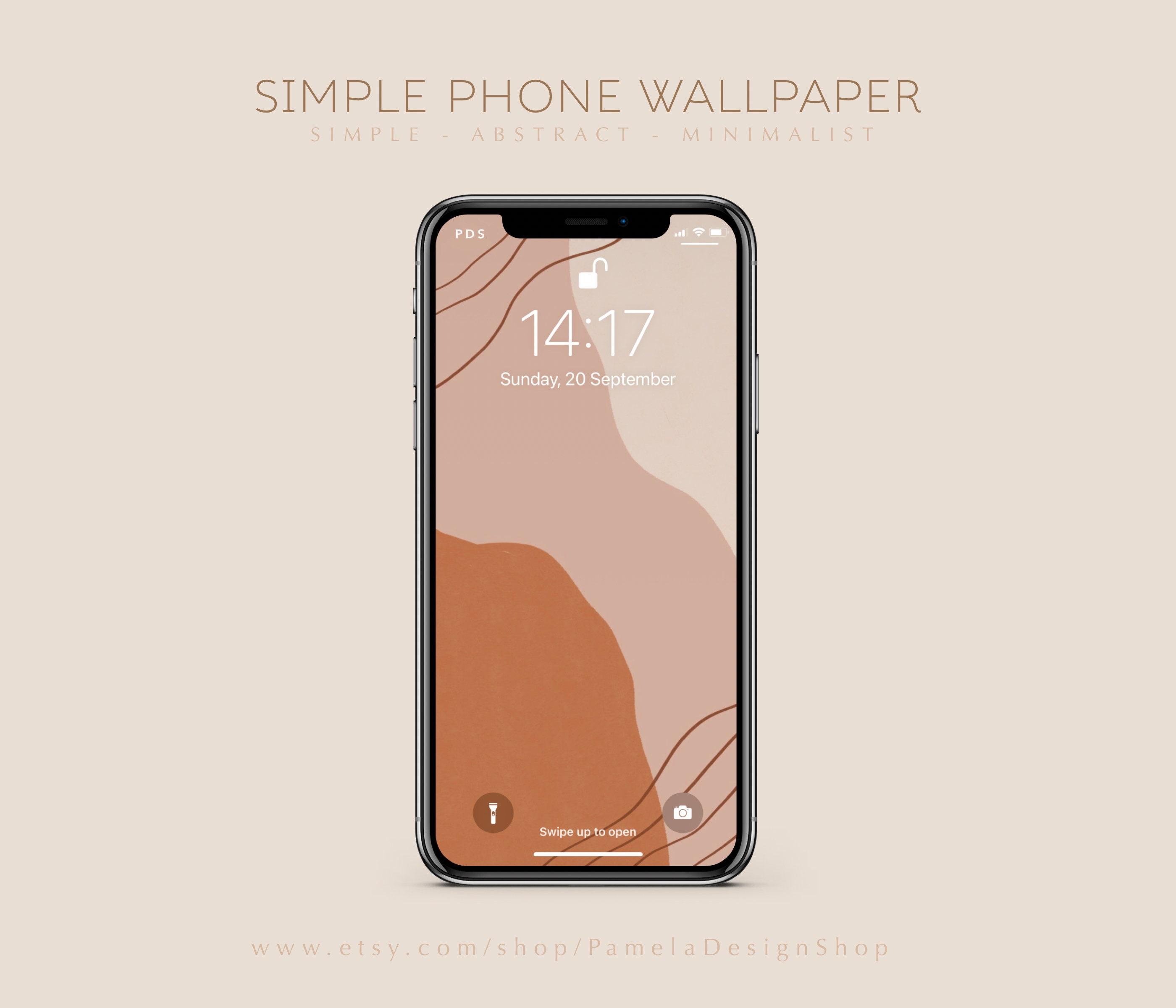 Einfache iPhone Wallpaper Design   modern und minimalistisch   Formen    Linien   Telefon Hintergrund sofortiger Download Ästhetische abstrakte Kunst