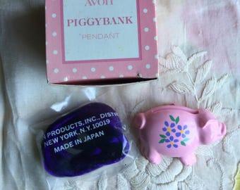 SALE! NIB Vintage Avon Piggybank Pendant, 1982