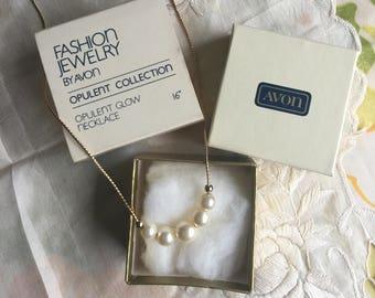 NIB Vintage Avon Opulent Glow Necklace, 1981