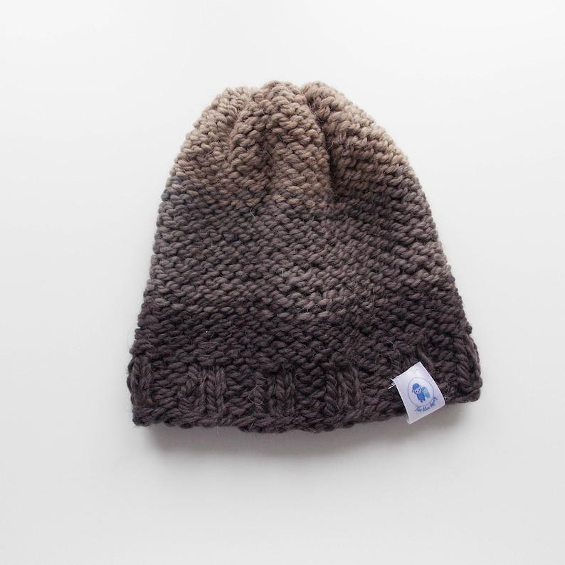 e43f0d5c7d5 Ombre hat brown ombre brown hat knit hat kids beanie