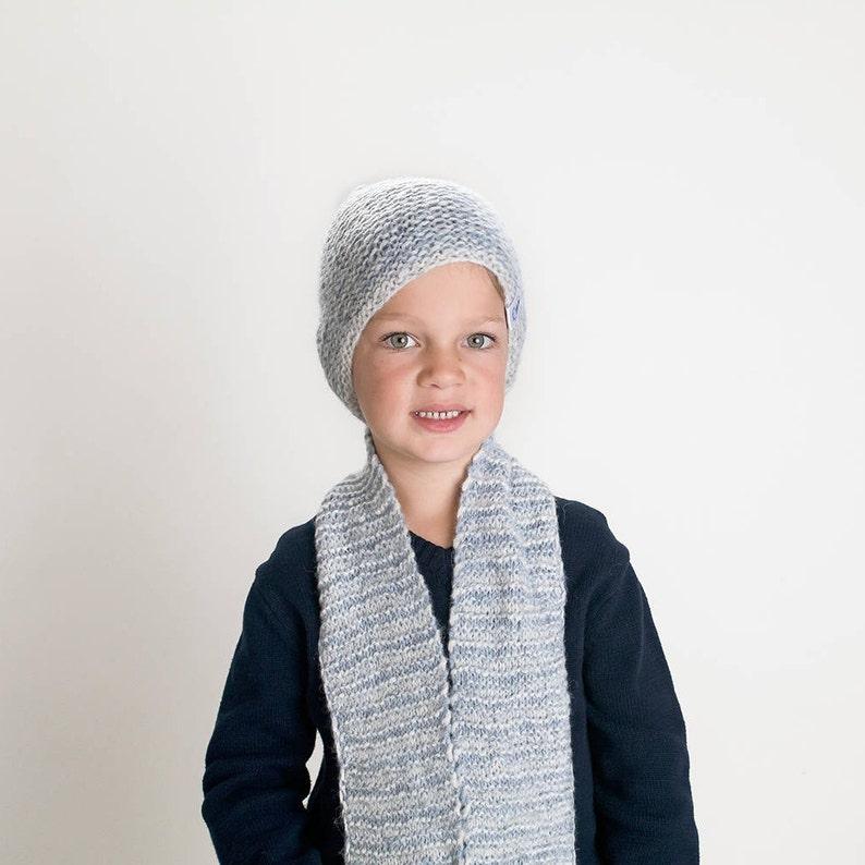 937161080ee Blue and grey set winter set kids winter set knit winter
