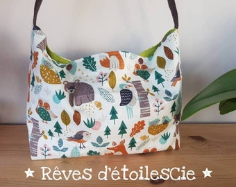 Forest animals diaper bag