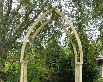 Garden Gothic Style Arch / Wooden Garden Arch