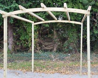 Arched Top Pergola