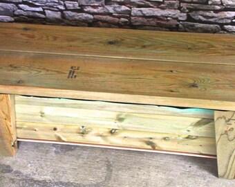 Amazing Wooden Galvanized Steel Storage Bench Creativecarmelina Interior Chair Design Creativecarmelinacom