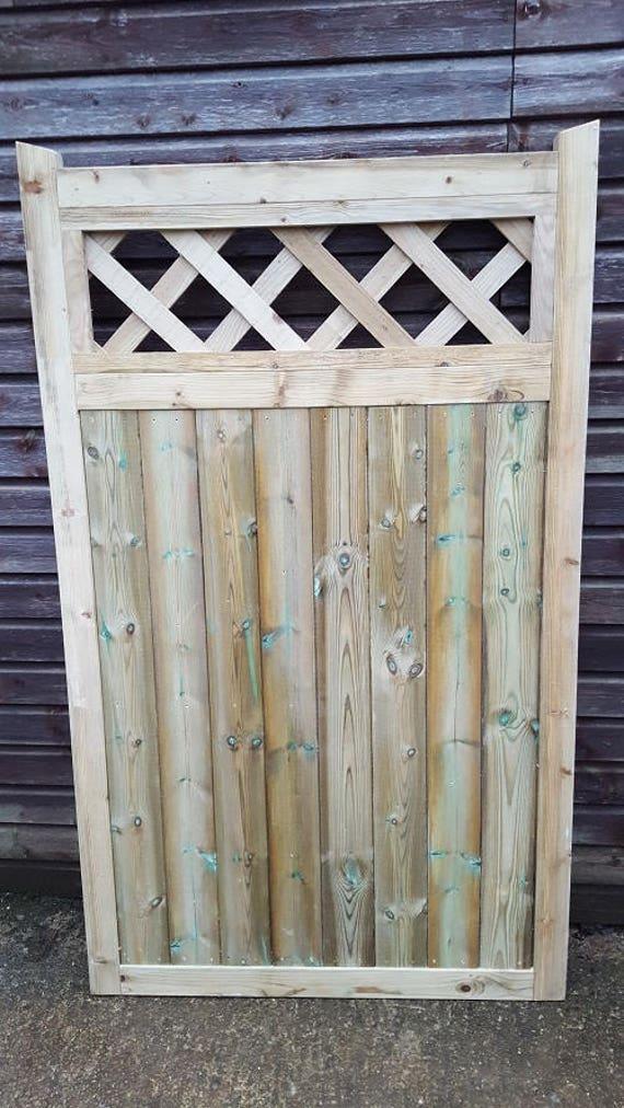 Smileswoodcraft wooden Garden Gate Hand Made Bespoke Garden Gates W 106cm x 5cm x180cm H D