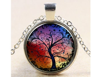 A Time To Be Alone Tree Pendant Necklace TREE Necklaces Bare Trees Jewelry Etsy Exclusives By Alteredhead ETSY Gothic Style Original Design