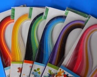 100 quilling self adhesive paper strips in island blue 3mm 5mm 10mm wide