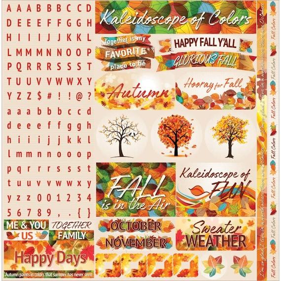 Autumn Stickers, 12
