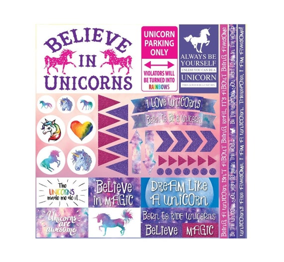 Unicorn Magic by Reminisce 12X12 Scrapbook Papers /& Stickers Set