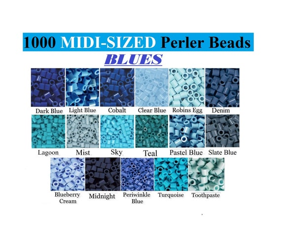 Mist 3-Pack Perler Bead Bag 1000 Sky /& Lagoon