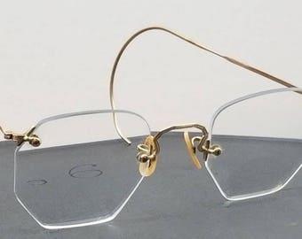 7aace488de Hippity Historical 1920 s Vintage 1 10 12K Gold Eyeglass Frames