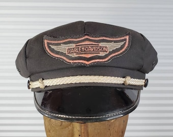 8e9efae1fbfcc Vintage 1940 s Harley Davidson Captain Hat. If You Want To Be A Boss On The  Road
